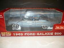 SUN STAR DIE CAST 1/18th 1963 FORD GALAXIE 500 CONVERTIBLE BLUE/BLUE