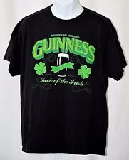 "Guinness Beer Ireland Official Luck of The Irish Black Extra Large XL 44"" TShirt"
