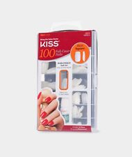 KISS SHORT SQUARE 100 FULL COVER NAILS #20019 100PS14 SHORT LENGTH TIPS
