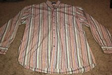 Pendleton Mens Button Front Long Sleeve Cotton Stripe Shirt Size  XL