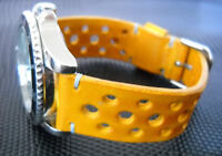 watch strap Racing Style Sport genuine leather YELLOW DESERT heaven stitches