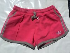NEW Adidas Originals Women's Trefoil Summer Shorts Joy Pink Heather Gray Z73693