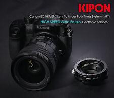 Kipon Autofocus AF Adapter for Canon EOS EF Lens to M43 Micro 4/3 MFT OM-D E-PL7
