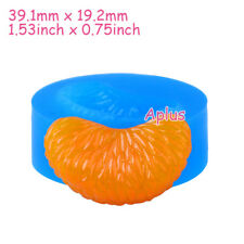 SEB124 39.1mm Tangerine Slice Silicone Mold Fruit Mold Resin Cake Craft Candy