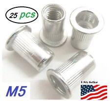 25pcs Flat Head Aluminum M5 Rivet Nut Rivnut Nutsert