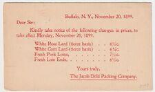 NEW YORK BUFFALO JACOB DOLD PACKING 1899 E.D. REITER, HOPPENVILLE, PENNSYLVANIA