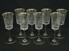 RARE LOT of 8 40's BACCARAT JASMINA WATER GOBLET STEMWARE * NEVER USED ~ 8 7/8""