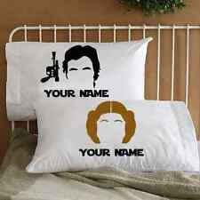 Star Wars Gift Han and Leia Couple Pillowcases Bedding for Adults Personalized