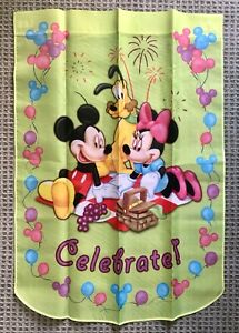 Disney Mickey Minnie Mouse Hamilton Collection CELEBRATE Flag Banner