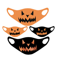 Scary Pumpkin Face Mask Halloween Protective Washable Reusable Unisex Kids Adult