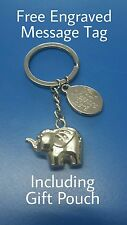 PERSONALISED ELEPHANT KEYRING PREMIUM QUALITY Daughter Mother Gift