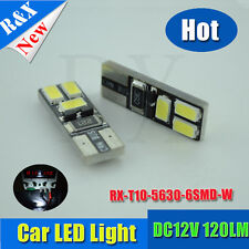 1pc T10 W5W 5630 6 Car LED Canbus Error Free Wedge Side Reading Bulb Door Lamp