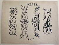 Jugendstil Entwurf Skizze Studie 121 Art-Nouveau Bordüre ? Dekoration