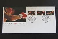 FDC Australia 1988 Seoul Olympics boxing