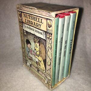 Vintage 1962 Maurice Sendak NUTSHELL LIBRARY Set of 4 Mini Books HARPER & ROW