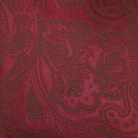 STEFANO RICCI Mens Burgundy Brown PAISLEY Self-tipped Woven Silk Tie Italy NWOT