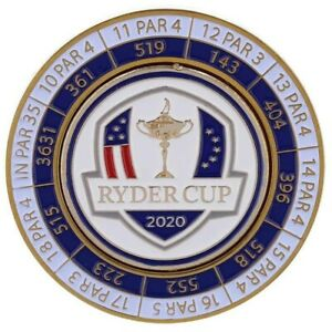 2020/2021 RYDER CUP (Whistling Straits) Limited Ed YARDAGE COIN w/Removable Mark