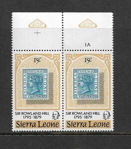 1979 Sierra Leone - Death Centenary of Sir Rowland Hill - Pair - MNH.