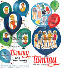 Vintage Reprint - 1964 - Tammy And Her Family Paper Dolls Box - Reproduction