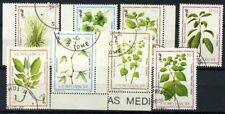 San Tommaso e il principe Isole 1983 Mi. 861-868 Usato 100% Piante medicinali