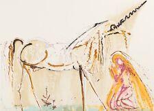 Salvador Dali - Unicorn (signed lithograph, 1983)