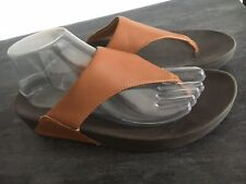 GORGEOUS LADIES FITFLOP TAN LEATHER TOE POST SANDALS UK 7