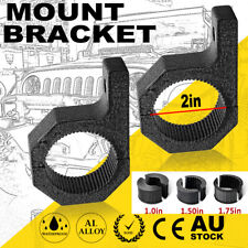 "2"" 25-50mm Bullbar Mounting Bracket Clamp LED Work Light Bar UHF Antenna Mount"