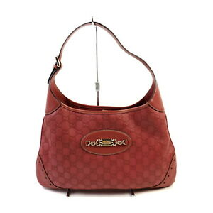 Gucci Shoulder Bag  Rose Leather 1422169