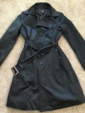 Womens Bebe Black Trench Coat XS