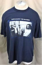 Vintage Rage Against The Machine (XL) Retro Graphic Concert Band T-Shirt Blue