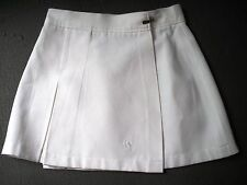 Vintage Silvretta tenis Super mini falda XS S 34 36 blanco ajorcas 70er años