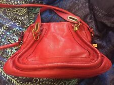 Rare Chloe Medium Paraty Bag W Receipts Hot Red/Holly Berry Sold Out