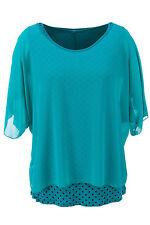 Übergröße-Hüftlang Damenblusen,-Tops & -Shirts mit Polyester für Freizeit