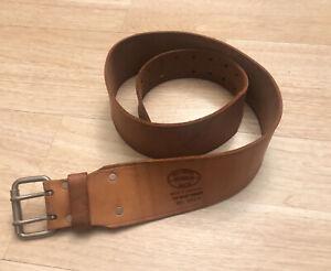 """Vintage Nicholas Top Grain Cowhide Tool Belt Made In USA No. 962X 50"""" Long"""