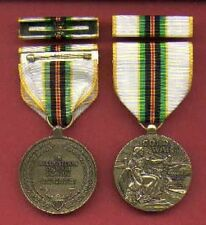 Cold War Service medal with ribbon bar and lapel pin in case