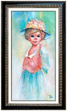 Tony Crosse Oil Painting On Canvas Original Signed Female Portrait Modern Art
