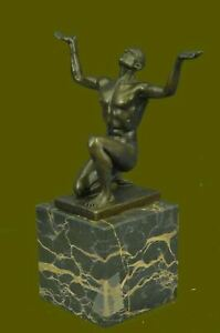 Bronze Sculpture Handcrafted Museum Quality Male Man Gay Interest Figurine Sale