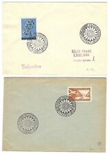 Poland 1954-59 PARACHUTE related covers (6) Aviation