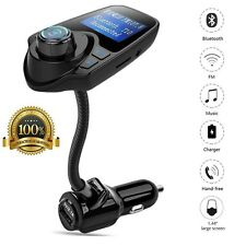 Wireless Bluetooth Car Radio Adapter Audio Receiver Stereo Music FM Transmitters