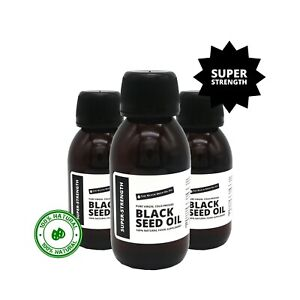 SUPER-STRENGTH Black Seed Oil - 100% Pure Cold-Pressed & Unfiltered. TBSOC