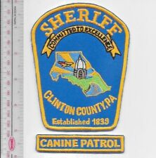 K-9 Police Pennsylvania Clinton County Sheriff's Police Department Canine Unit