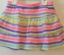 Jumping Bean Toddler Girl 4T Skort Pink Striped Pastels Tiered New