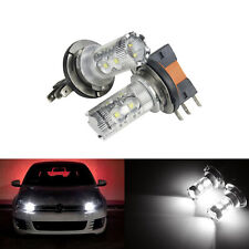 H7 50W Adjustable LED Bulbs Pair 6K Canbus Fits Ford Mondeo MK4 2007-Onwards
