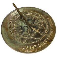 Count Only Sunny Hours Aged Patina Brass Sundial by Rome Industries