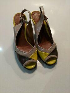 Chie Mihara Leather Open Toe Sandal Shoes UK 4 EU 37
