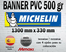 LONA PVC CARTEL BANNER MICHELIN TYRES TOOLS SHOP OFFICE TALLER WORSHOP GARAGE
