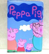 "Peppa Pig & Family 7"" Universal Tablet Wallet Case For Mini Ipad, Galaxy Tab7"" +"