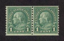 Scott #  597 beautiful pair of Franklin never hinged