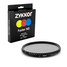 Fader ND camera lens Filter Adjustable ND2-ND400 52mm Multi coated