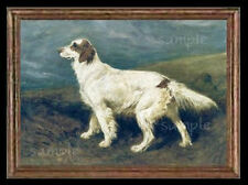 English Setter Dog Miniature Dollhouse Picture